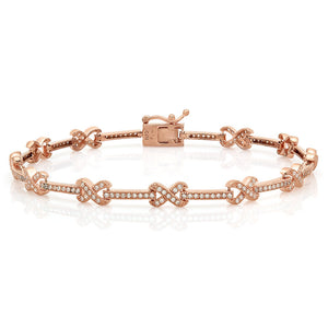 Love Knot in Rose gold plated bracelet. - Zaitano