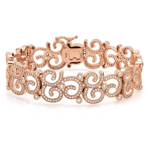free hand design Rose gold plated bracelet. - Zaitano