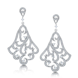 Bell shaped drop earrings and simulated diamonds by swarovski - Zaitano - Zaitano