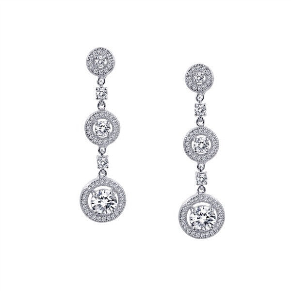 Beautiful drop earrings with simulated diamonds by swarovski. - Zaitano