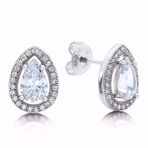 Pear shaped stud earring - Zaitano