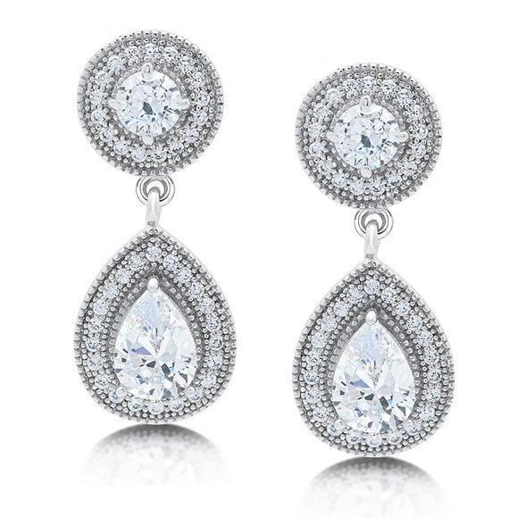 Round and pear drop earring - Zaitano