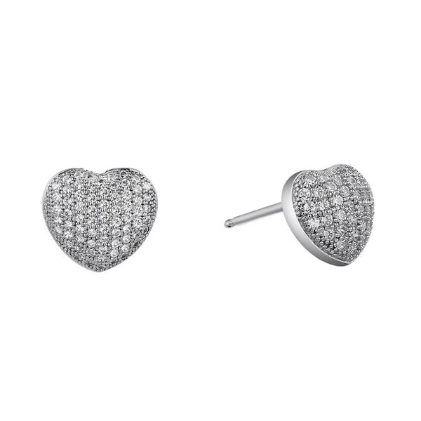 Heart shaped pave earrings - Zaitano