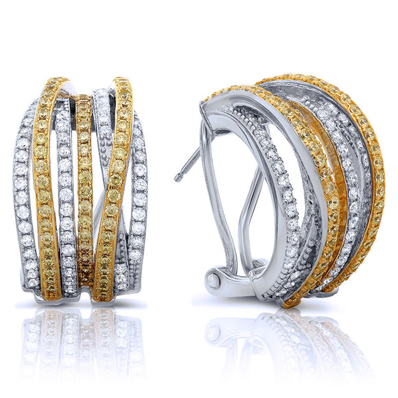 Sterling silver with gold plated two tone stud earrings. - Zaitano