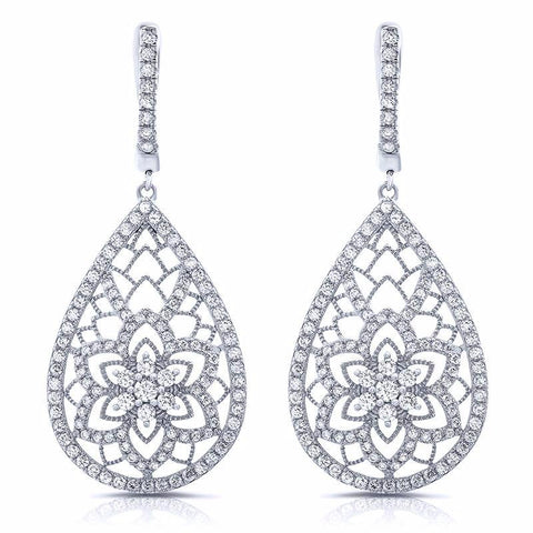 Floral drop earrings - Zaitano