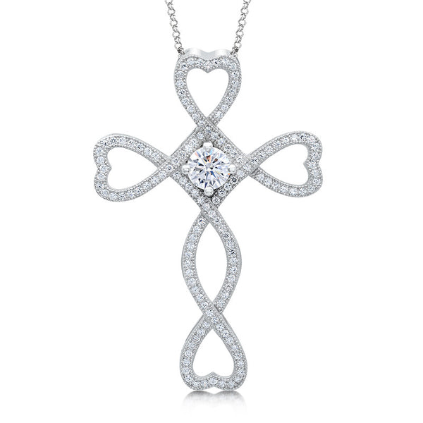 Heart cross pendant. - Zaitano