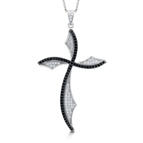 Curved Cross pendant. - Zaitano