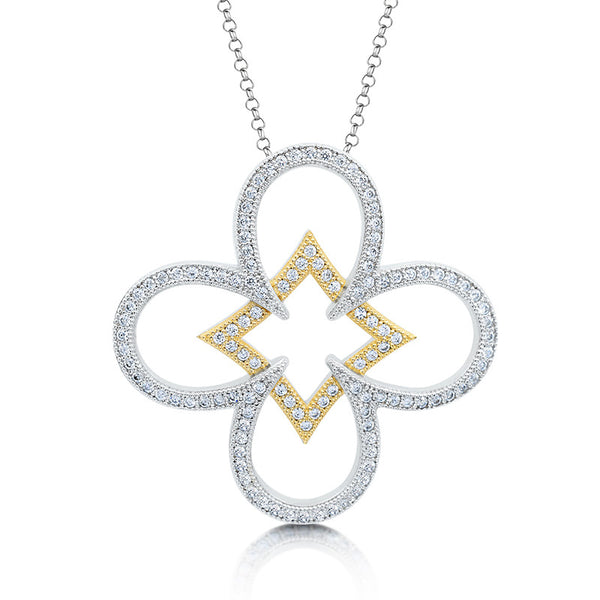 Beauty of simplicity pendant and simulated diamonds by swarovski. - Zaitano