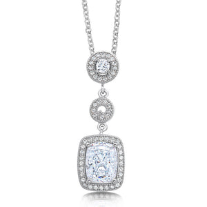 Radiant pendant and simulated diamonds by swarovski. - Zaitano