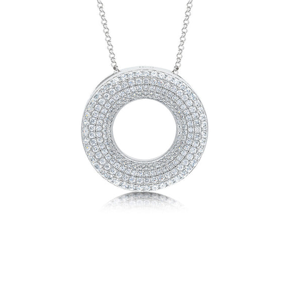Circle of luck pendant and simulated diamonds by swarovski - Zaitano - Zaitano