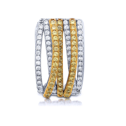 Two tone Gold plated Sterling silver ring. - Zaitano