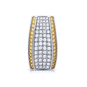 Sterling Silver gold plated pendant with simulated diamonds by swarovski. - Zaitano
