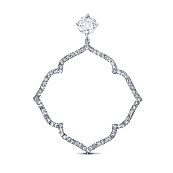 Fashion pendant and simulated diamonds by swarovski. - Zaitano
