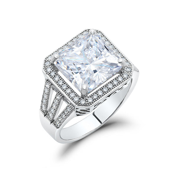 Zaitano square radiant engagement ring. - zaitano