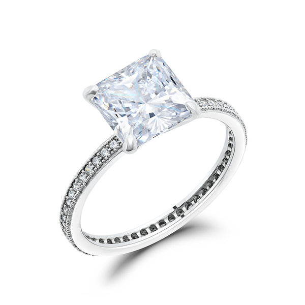 Simple is new love princess cut ring. - Zaitano