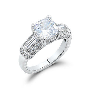 Fashion of classic cushion cut ring. - Zaitano