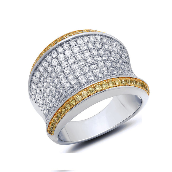 google doodle two tone fashion ring. - Zaitano