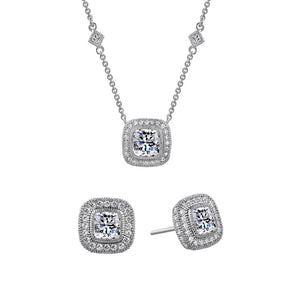 Cushion cut set of two. - Zaitano