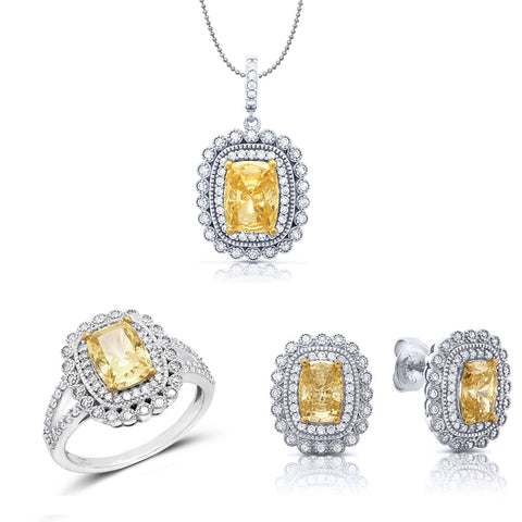 Yellow love jewelry set. - Zaitano