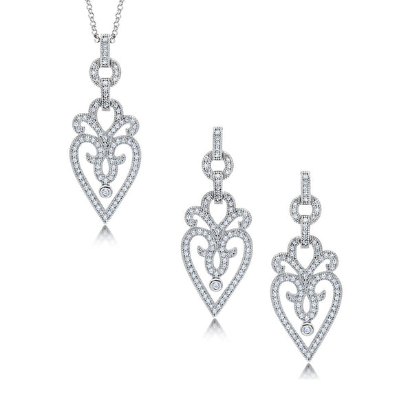 Elegant silver jewelry set of two. - Zaitano