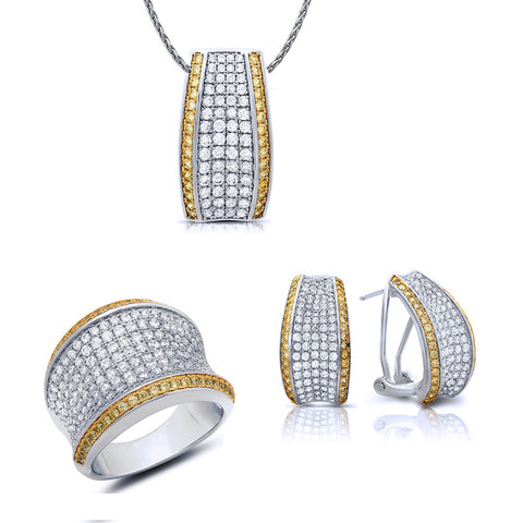 Two tone work jewelry set. - Zaitano
