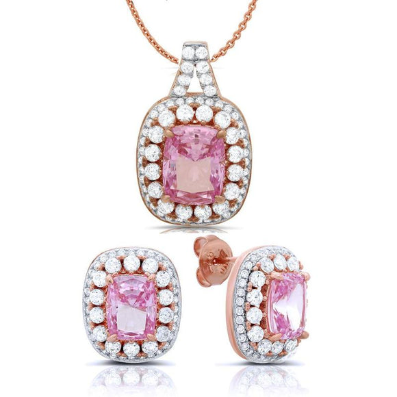 Pink and wink jewelry set. - Zaitano