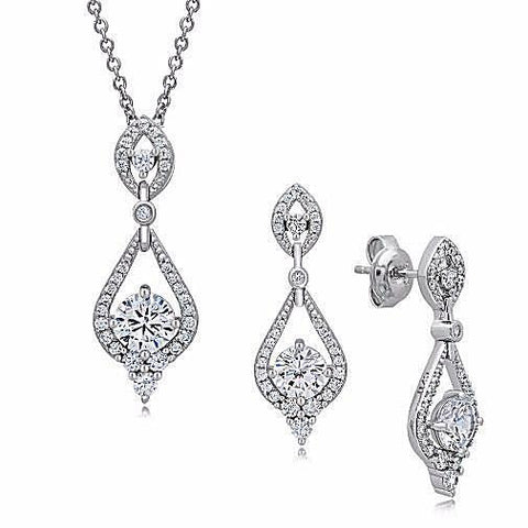 Lovely pear shape fashion jewelry set of two. - Zaitano