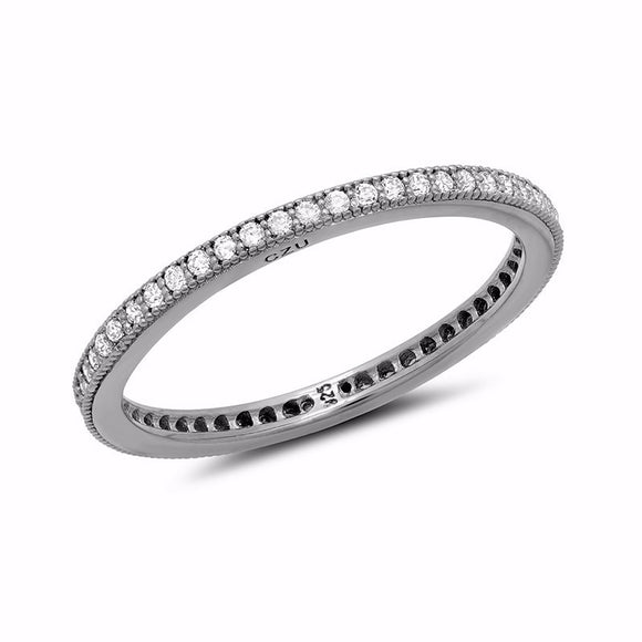 Wedding band pave ring. - Zaitano