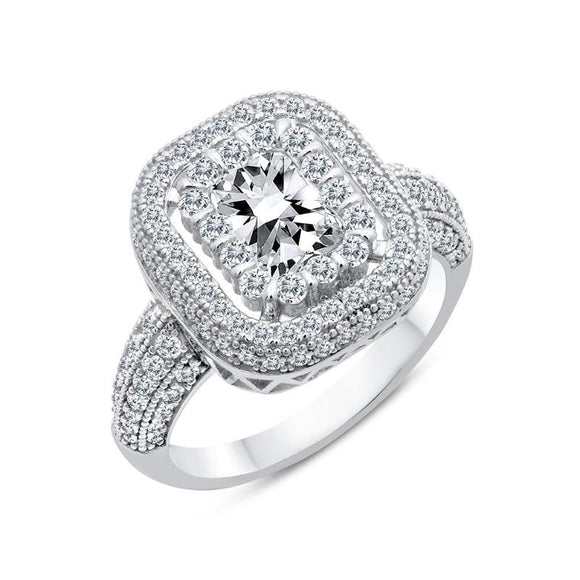 Square cluster wedding ring - Zaitano - Zaitano