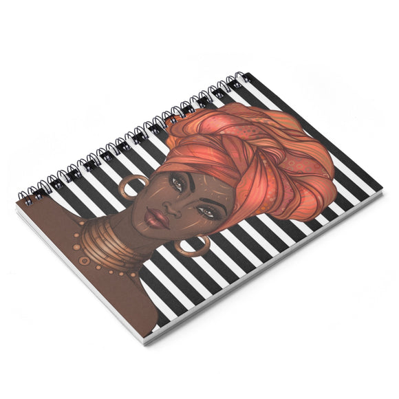 Orange Goddess in a Gele Notebook