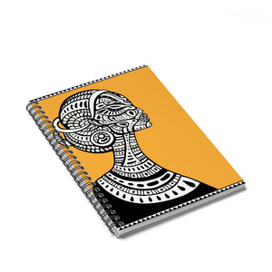 Tribal Woman Ruled Spiral Notebook