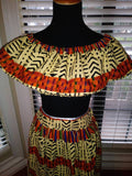 African Print 2-Piece Skirt Set