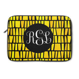 Proceed With Caution Monogram Laptop Sleeve