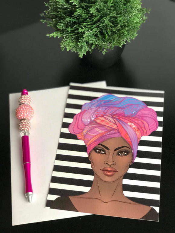Goddess in a Gele Postcard/Notecard