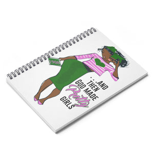 God Made AKAs -  Spiral Ruled Line Notebook