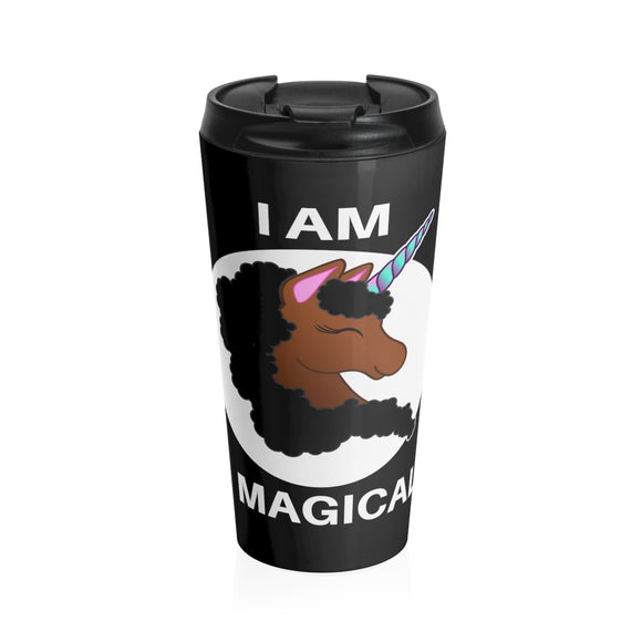 Black Unicorn - 15oz Travel Mug
