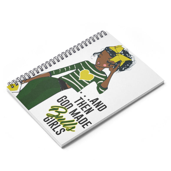 God Made USF Bulls Spiral Ruled Line Notebook