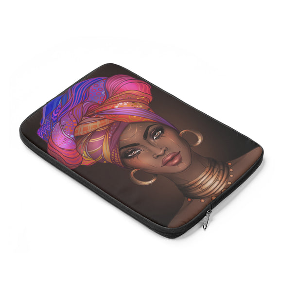 Goddess in a Gele - Laptop sleeve (multiple colors)