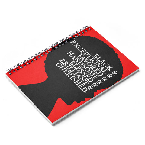 Black Adjective 2 - Spiral Ruled Line Notebook