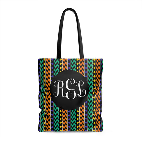 Monogram Tribal Print Tote