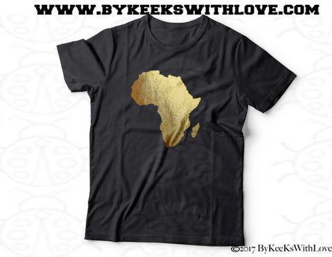 Africa Gold Foil Tee