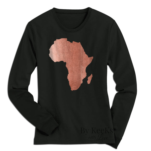 Rose Gold Africa -  Unisex Long Sleeve T-Shirt