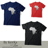 Africa Foil Tee (Silver & Gold)