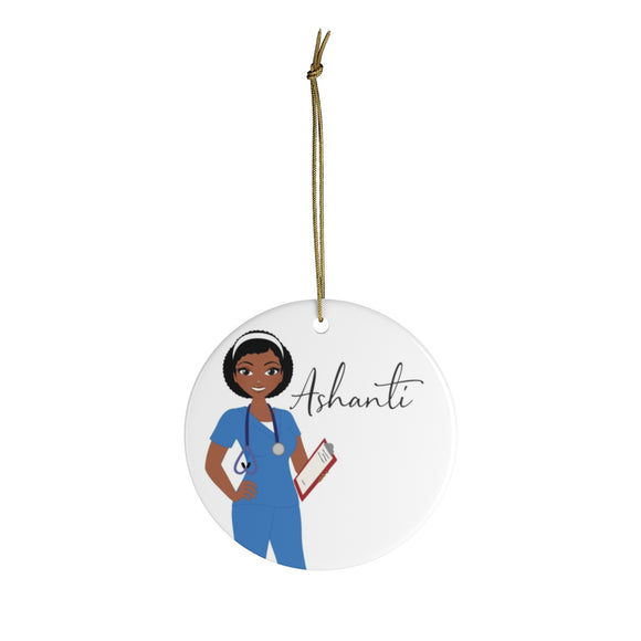 Personalized Professional Woman Ceramic Ornament