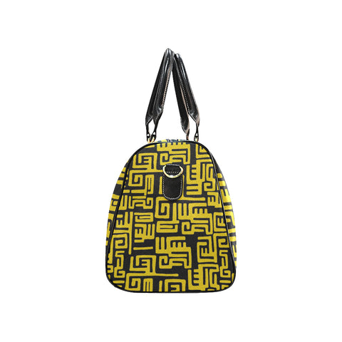 Yellow Tribal Print Travel Tote