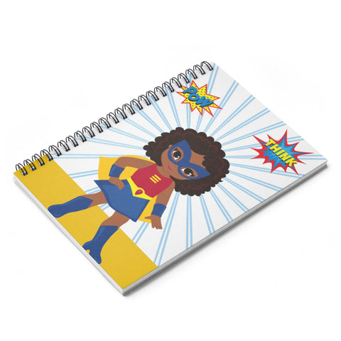 Soaring Superhero Spiral Ruled Line Notebook