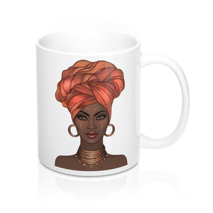 Goddess in a Gele Inspirational 11 oz Mug (multiple colors)