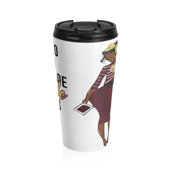 God Made Seminoles - 15oz Stainless Steel Travel Mug