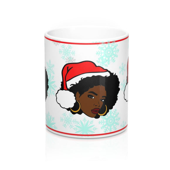 Black Woman Christmas Mug