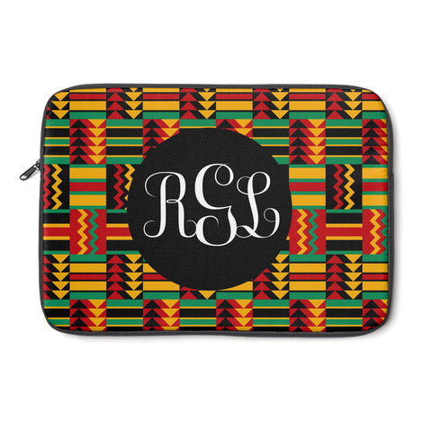 Kente Print Monogram Laptop Sleeve